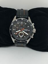 Fossil CH2956 Decker Chronograph Mens Silicon Black Analog Dial 42mm Watch Bb273