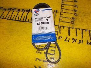 New 84-12 13 Ford Mercury Volkswagen Carquest K060420 Micro-V AT Serpentine Belt
