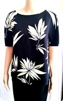 New MAX MARA Studio Floral Printed Blouse size 8 USA, 42 I, Black made in Italy