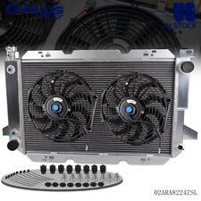 "For FORD F-150/250 SUPER DUTY BRONCO Aluminum Radiator+2* 12 "" Black Fan 85-1996"