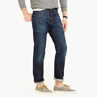 J. Crew 1040 Japan Kaihara Denim Mens Straight Fit Athletic Jeans $125 NEW 32x30