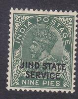 India Jind - KGV 1932 - Service - 9P Green - SG O49 (C26F)