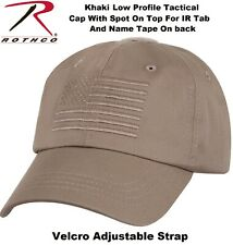 Tactical Operator Cap Military Contractor Hat With Embroidered US Flag Rothco
