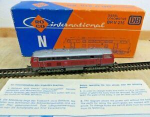 Roco N Gauge 2150A Diesel Locomotive Br 215 031-6 DB With Manual Tested Boxed