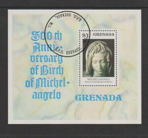 Grenada - 1975, Anniversary of Michelangelo sheet - F/U - SG MS752