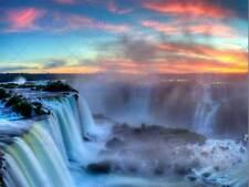 NATURE LANDSCAPE WATERFALL IGUAZU BRAZIL BEAUTIFUL POSTER ART PRINT BB1520B
