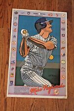 Vintage 1980's Mike Pagliarulo Cartoon Poster New York Daily News Pags Yankees