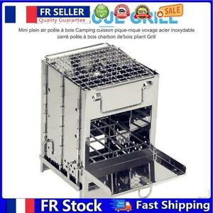 Outdoor Barbecue Grill Rack Stainless Steel Camping Picnic Travel BBQ Stove