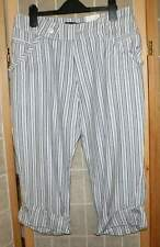 Firetrap strypy cropped  summer trousers size S
