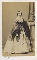 A. Ken Parigi Ritratto Un Donna Second Empire CDV Vintage Albumina Ca 1860