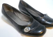 Womens Nadora Black Dress Shoe Pumps Mini Wedge