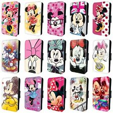 MINNIE MOUSE DISNEY FLIP PHONE CASE COVER for SAMSUNG GALAXY S5 S6 S7 S8 S9