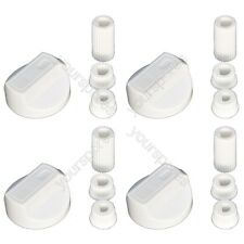 4 X Scholtes Universal Cooker/Oven/Grill Control Knob And Adaptors White