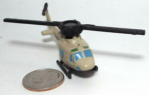 Small Micro Machine Plastic UH-1 Huey Helicopter marked Marines Number 22