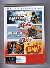Team America World Police  / Jackass The Movie  / Raw DVD - Brand New & Sealed