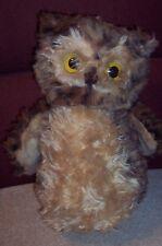 "Vintage Pillow Pets Owl Plush Stuffed Toy R. Dakin 1977 Needs Nose 13"" NTLC"