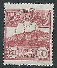 1903 SAN MARINO VEDUTA 10 CENT MNH ** - M18-5