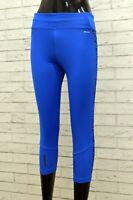 Adidas da Donna Leggings Climalite Blu Taglia S Palestra Fitness Sport Corsa