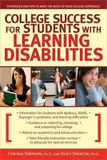 College Success for Students with Learning Disabilities: Strategies and Tips to