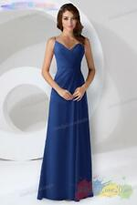 Length Chiffon Bridesmaid Dresses Wedding Formal Party Prom Evening Gown UK 8-26
