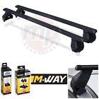 M-Way Black Steel Roof Rack Rail Cross Bars to fit Rover 45 (99-05) + Fixings 11