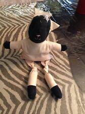 Bottom Weighted Black and Ivory Stuffed Lamb from Hobby Lobby -13 inches