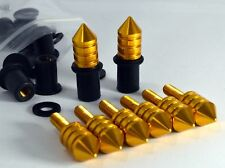 Spike Windscreen Bolt Kit- Gold Aluminum Bolts, Screws, Washers, Well Nuts.