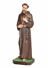 Saint Francis of Assisi resin statue cm. 28