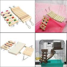 Hanging Ladder Hamster Parrot Bird Cage Bridge Toys Swing Wooden Mouse Rat Pet