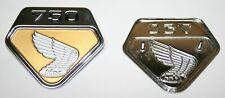 Gold Honda CB750K 1969-70 Side Cover Emblem Set 87123-300-020 87124-300-020 NEW!