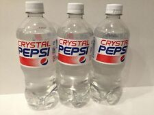 NEW CRYSTAL PEPSI 20oz (Single) Bottles Soda Clear Cola (2016 Release) SOLD OUT