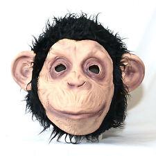 LATEX CHIMP (Chimpanzee) MASK Full Head Animal Fancy Dress Halloween Party