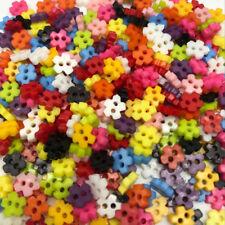 lot 50 Bouton crafts fleur 6mm 2 trou scrapbooking bricolage décoration mercerie
