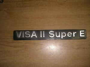 Emblem / Badge Citroen Visa II Super E aus Metall, ca. 250 x 30 mm