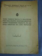 """EDUCAZIONE FISICA-PALESTRA SMONTABILE """"D'ALESSANDRO-PANIZZUTTI""""-MILITARIA 1934"""