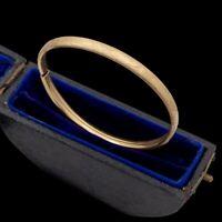 Antique Vintage Deco 14k Gold Filled GF Sweetheart Wedding Bangle Bracelet 6.7g