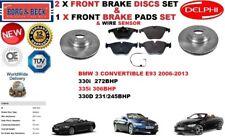 para BMW 3 E93 330 335 330d Descapotable Discos freno Delantero Set + pastillas
