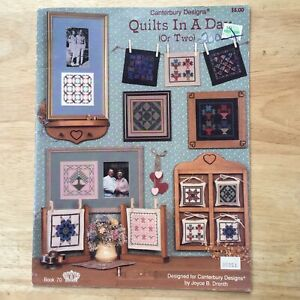 Vintage Canterbury Designs Quilts in a Day (Or Two) Cross Stitch Pattern Book 70