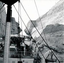 Canal de Corinthe c. 1960 - Pont du Paquebot IONIA Grèce - DIV 3580
