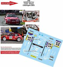 DÉCALS 1/24 réf 332 Citroen SAXO Kit Car Loeb - Elena Catalogne 2001