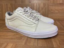 RARE🔥 VANS OG Old Skool Off White Snake Croc Print Shoes Sz 11.5 Ultracush Mens