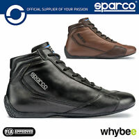 New! 001239 Sparco Slalom RB-3 Classic Race Leather Boots Vintage FIA Fireproof