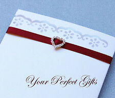 24 HEART Wedding Invitation Rhinestone Crystal Buckle