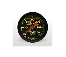 "Marshall 0-60 Psi Fuel / Oil Pressure Gauge Midnight Black 1.5"" (Liquid Filled)"