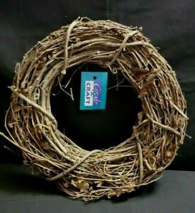 Create-A-Craft  Grapevine Wreath - Natural - 12 inches   New!