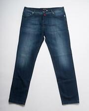 Kiton NWT Dark Blue Slim Fit Cotton Blend Stretch Selvedge Denim Jeans 40