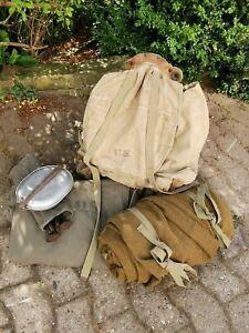 US Army WW2 mountain division Rucksack Zelt Schlafsack Geschirr Wehrmacht Beute
