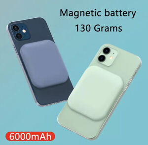 6000 mAh Mag Safe Power Bank Magnetic Wireless Charger For iPhone 12/12 Pro Max