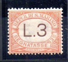 1925 SAN MARINO SEGNATASSE 3 LIRE INTEGRO C/8084