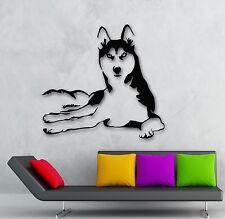 Wall Stickers Vinyl Decal Husky Dog Animals Pets Veterinary (ig1341)